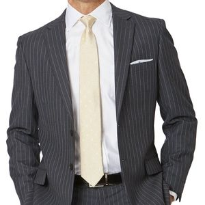 Gray Pinstripe Suit Set
